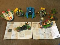 Lot of TMNT Vehicles; One Complete and Others Partial