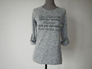 T-shirt femme epais manches longues taille 38