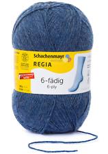 6,30€/100g Regia Sockenwolle 6fädig 150g schnell gestrickt  2137 jeans meliert