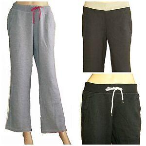 Ladies EX M&S Jogging Bottoms Joggers NAVY GREY Jog Pants Trousers Sizes 6-22