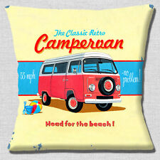 VW Campervan Cushion Cover 16x16 inch 40cm Classic Retro Camper Old Mottled