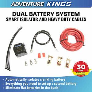 KINGS Dual Battery System 12V Smart Isolator Cable Crimp Lag Kit 4WD Battery
