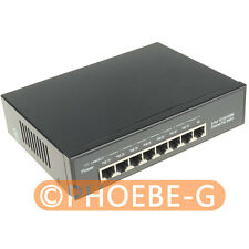 ALL Gigabit 12V 96W 8 Ports 7 PoE Injector Power Over Ethernet Switch 4,5+/7,8-