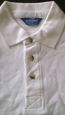 Da Uomo rivermead Bianco a Tinta Unita Casual Polo T Shirt, Manica corta, taglia Small nuova