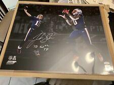 Josh Gordon Autographed Signed New England Patriots 16x20 Photo Brady Inscr. JSA
