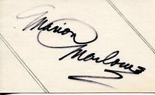 MARION MARLOWE SINGER ON THE ED SULLIVAN SHOW / JACK PAAR SIGNED CARD AUTOGRAPH