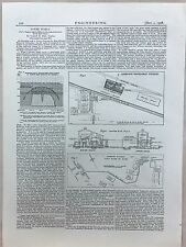 Power Supply And Effect In The North East: 1908 Engineering Magazine Print