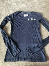 womens abercrombie and fitch Top Navy