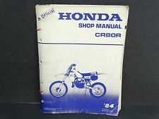 Vtg 1984 Honda CR80R CR 80 R Service Shop Repair Factory Manual 84