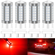 4X 3157 P27/7W 33SMD LED Red Auto Brake Turning Parking Reverse Lamp Bulbs 12V