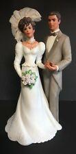"Vintage Wedding Musical Figurine 1990 ""Congratulations&#03 4; Roman Inc Bride & Groom"