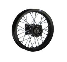 HMParts Pit Dirt Bike Cross Alu Felge eloxiert 10 Zoll hinten schwarz Typ 2 12mm