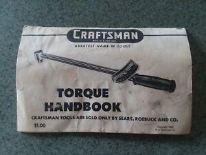 Vintage Craftsman Torque Handbook 1953