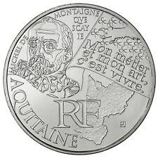 """Pièce de 10 euros des régions """"Aquitaine"""" 2012."""