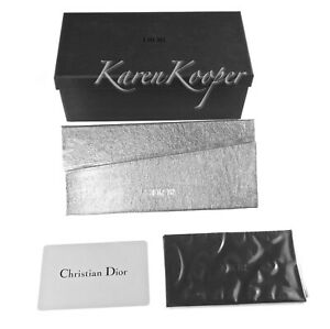 CHRISTIAN DIOR SUNGLASSES SILVER CASE CLOTH EYEGLASSES GLASSES CARD BOX NEW