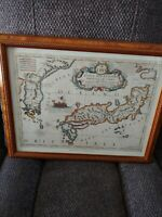 The New World Japan Vincenzo Maria Coronelli 1650 Map Vintage Wall Art Litho