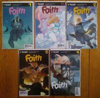 Faith 1st Series 1 2 3 4 Plus-Size BBW Superhero Valiant Comics to be Movie NM+