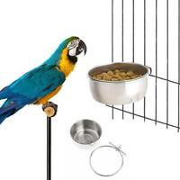 Bird Supplies Feeders Stainless Steel Food Water Bird Cups Parrot Feed B4T1