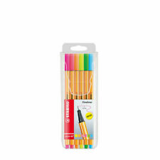 STABILO Point 88 Fineliner Pen 6 Neon Color 0.4mm Tip Drawing Writing Art Set