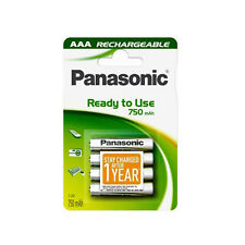 4 PILES ACCU PANASONIC RECHARGEABLE AAA LR03 1.2V 750mAh Ni-Mh BATTERY BATTERIE