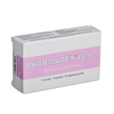 Local contraceptive Pharmatex, 18.9 mg vaginal suppositories N10