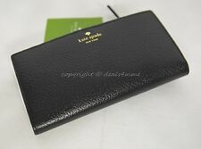 NWT! Kate Spade Grand Street Stacy Wallet in Black Leather  Style # WLRU2153