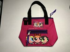62908776494eb Powerpuff Girls Pink Canvas Bag Tote with Velcro Coin Bag