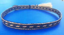 Western Cowboy/Cowgirl HAT BAND 5 Strand Brown/Black Horsehair Single Tassel