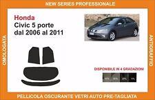 pellicola oscurante vetri pre-tagliata Honda civic 5p dal 2006-2011 post