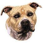"""Staffordshire Bull Terrier, Pit Bull, Pitbull, Dog  Embroidered Patch 3"""" tall"""