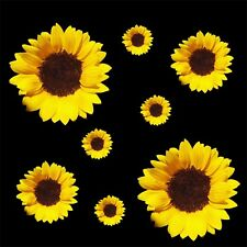 Sunflowers set of 8 - car sticker decal Quality vinyl stickers