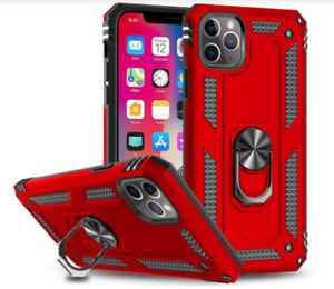 iPhone Xr Case Heavy Duty PC Kickstand Anti-Shock Defense Premium Protective RED