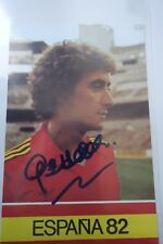 AUTHENTIC AUTOGRAPH  SOCCER  FOOTBALL REAL MADRID GARCIA HERNANDEZ SPAIN