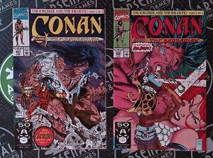 Conan #241 & 242 1991 Marvel Comics LOW PRINT McFarlane Jim Lee Cover Art RARE
