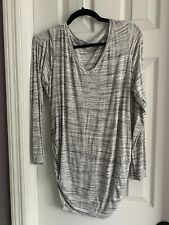 Motherhood Maternjty Long Sleeve Gray Comfy T-Shirt Size Large Good Condition