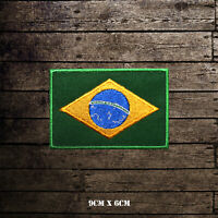 Brazil National Flag  Embroidered Iron On Sew On Patch Badge For Clothes etc
