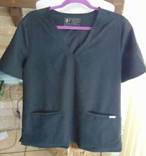 Figs Technical Collection Xl Black Scrub Top 2 Pockets