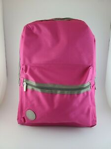 New Pink Dual Compartment Backpack Girls School
