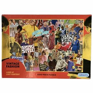 Gibsons Vintage Fashion Land of Content Puzzle 1000 Pcs History Fashionista Art