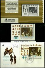 RARE ISRAEL 1995 IMPERFORATE TAB Stamp Sheet & FDC BRITISH ARMY VOLUNTEERS MNH