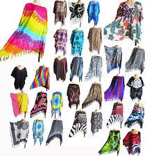 Ladies KAFTAN/PONCHO, tunic top, beach wear, one size, fits large plus size, new