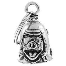Pig / Hog Motorcycle Guardian Angel Harley Good Luck Gremlin Bell Made USA