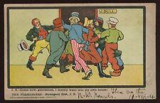 Political JOHN BULL Strangers First 1904 Satire Comic PPC Free Trade