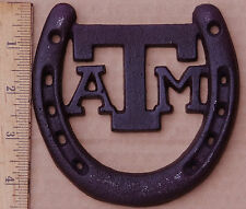 6pc Lot of Lucky Texas A&M Horseshoes Gig Em Aggies Maroon Cast Iron