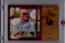 CHRISTIAN PONDER RC AUTO 2011 UD SP AUTHENTIC SPA FUTURE WATCH GOLD #1/5