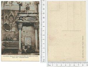 Galatina Sarcofago del Principe Orsini Del Balzo mon. Nazionale - f/p - 19792