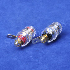 2Pair Speaker Cable Tube Amp Power Amplifier Terminal Plug Binding post Small
