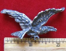 H.D. style Vintage Flying Eagle Sterling Silver Lapel Pin / Brooch -Spread Wings