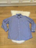 Polo Ralph Lauren Mens Lowell Sport Dress Shirt Sz XL Blue Striped Long Sleeve