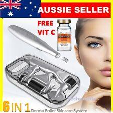 6 in 1 Titanium Derma Roller Dermaroller Micro Needle Skin Care +VITAMIN C SERUM